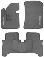 Коврики в салон для Hyundai Santa Fe '10-12 CM текстильные, серые (Стандарт)
