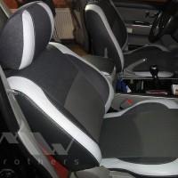 Авточехлы Premium для салона KIA Sorento '03-09 BL светлые вставки, серая строчка (MW Brothers)