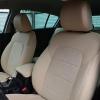 Авточехлы Leather Style для салона Kia Sportage с 2016 светло-бежевые (MW Brothers)