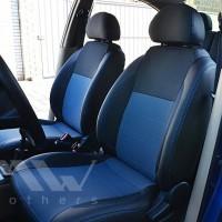 Авточехлы Premium для салона Lada (Ваз) 2109 '86-12 синяя строчка (MW Brothers)