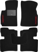 Коврики в салон для Hyundai Sonata '01-05 текстильные, черные (Стандарт)