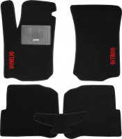 Коврики в салон для Skoda Octavia '97-09 текстильные, черные (Стандарт)