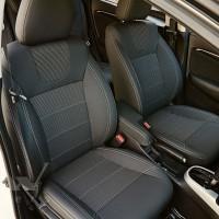 Авточехлы Dynamic для салона Mazda 2 '15-, серая строчка (MW Brothers)