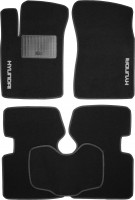 Коврики в салон для Hyundai Sonata '05-10 текстильные, черные (Стандарт)
