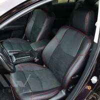 Авточехлы Leather Style для салона Mazda 6 '08-12 красная строчка (MW Brothers)