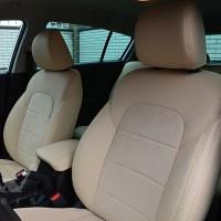 Авточехлы Leather Style для салона Mazda CX-5 '12-17 базовой комплектации светло-бежевые (MW Brothers)
