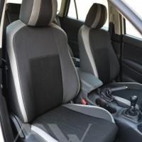 Авточехлы Premium для салона Mazda CX-5 '12-17 базовой комплектации светлые вставки, серая строчка (MW Brothers)