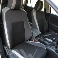 Авточехлы Premium для салона Mazda CX-5 '15-17, Touring и Premium светлые вставки, серая строчка (MW Brothers)