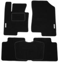 Коврики в салон для Hyundai Sonata '10-15 текстильные, черные (Стандарт)