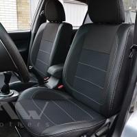 Авточехлы Premium для салона Mitsubishi Lancer 9 '04-09 темные, серая строчка (MW Brothers)