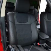Авточехлы Dynamic для салона Mitsubishi Outlander '12-, черная строчка (MW Brothers)