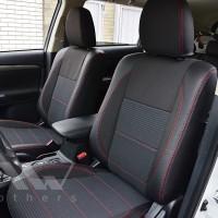Авточехлы Premium для салона Mitsubishi Outlander '15-, рестайлинг красная строчка (MW Brothers)