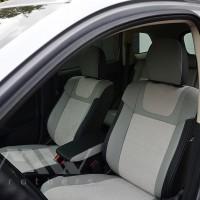 Авточехлы Leather Style для салона Mitsubishi Outlander '15-, рестайлинг алькантара, серая строчка (MW Brothers)