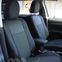 Авточехлы Premium для салона Mitsubishi Outlander '15-, рестайлинг серая строчка (MW Brothers)
