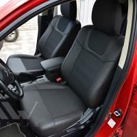 Авточехлы Dynamic для салона Mitsubishi Outlander '15-, рестайлинг черная строчка (MW Brothers)