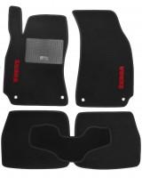 Коврики в салон для Skoda Superb '02-08 текстильные, черные (Стандарт)