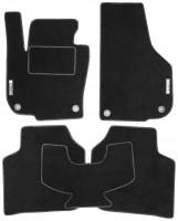 Коврики в салон для Skoda Superb '09-14 текстильные, черные (Стандарт)