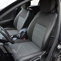 Авточехлы Premium для салона Renault Megane 3 Grandtour '08-16 универсал темные, серая строчка (MW Brothers)