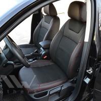 Авточехлы Dynamic для салона Skoda Octavia A5 '05-13 красная строчка (MW Brothers)