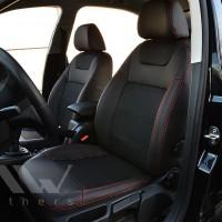 Авточехлы Dynamic для салона Skoda Octavia A5 '09-13 красная строчка (MW Brothers)