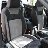 Авточехлы Leather Style для салона Skoda Octavia A5 '09-13 алькантара, светлые вставки (MW Brothers)