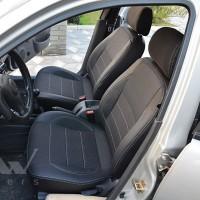 Авточохли Premium для салону ЗАЗ Lanos '06-, Pick-up (1+1) темні, сіра строчка (MW Brothers)