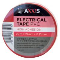 Ізострічка AXXIS PV100RED червона 19 мм х 20 м