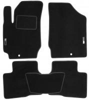 Коврики в салон для Kia Cerato Koup '09- текстильные, черные (Стандарт)
