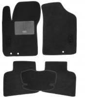 Коврики в салон для Kia Cerato '09-13 текстильные, черные (Стандарт)