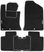 Коврики в салон для Kia Optima 2010 - 2015 текстильные, серые (Стандарт)