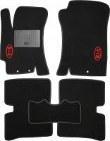 Коврики в салон для Kia Rio '05-11 текстильные, черные (Стандарт)