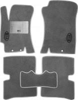 Коврики в салон для Kia Rio '05-11 текстильные, серые (Стандарт)