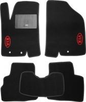 Коврики в салон для Kia Soul '09-13 текстильные, черные (Стандарт)