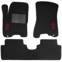 Коврики в салон для Kia Sportage '04-10 текстильные, черные (Стандарт)