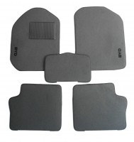 Коврики в салон для BYD F3 '05- текстильные, серые (Стандарт)