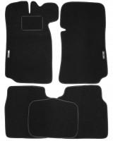 Коврики в салон для Lada (Ваз) 2101-2107 текстильные, черные (Стандарт)