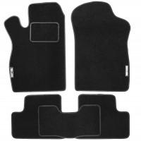 Коврики в салон для Lada (Ваз) 2108-2115 текстильные, черные (Стандарт)