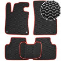 Kinetic Коврики в салон для Peugeot 308 '14-, универсал, EVA-полимерные, черные с красной тесьмой (Kinetic)