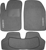Коврики в салон для Chery M11 '08- текстильные, серые (Стандарт)