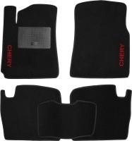 Коврики в салон для Chery Tiggo '12- текстильные, черные (Стандарт)