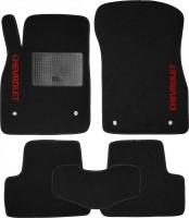 Коврики в салон для Chevrolet Cruze '09- текстильные, черные (Стандарт)