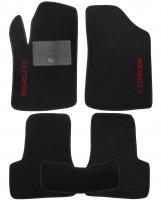 Коврики в салон для Citroen C2 '03-10 текстильные, черные (Стандарт)
