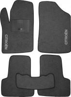 Коврики в салон для Citroen C2 '03-10 текстильные, серые (Стандарт)