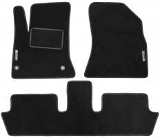 Коврики в салон для Citroen C4 Picasso '06-13 (2 ряда) текстильные, черные (Стандарт)