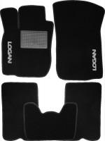 Коврики в салон для Dacia Logan '04-12 текстильные, черные (Стандарт)