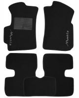 Коврики в салон для Daewoo Matiz '01- текстильные, черные (Стандарт)