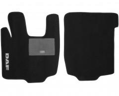 Коврики в салон для DAF XF текстильные, черные (Стандарт)