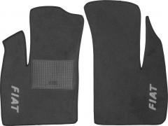 Коврики в салон для Fiat Doblo '01-09 текстильные, серые (Стандарт) передние