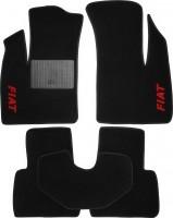 Коврики в салон для Fiat Doblo '01-09 текстильные, черные (Стандарт)