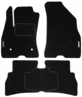 Коврики в салон для Fiat Doblo '10- текстильные, черные (Стандарт)